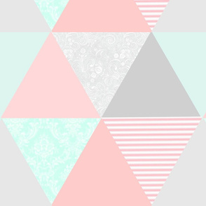 Pink, gray, and teal triangles-ed