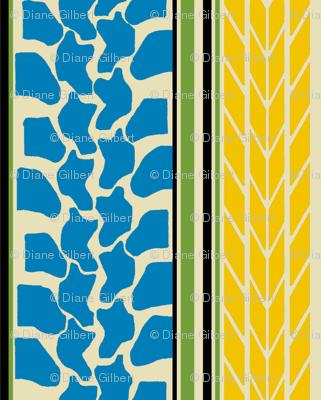 bike tread stripe blue by Diane Gilbert