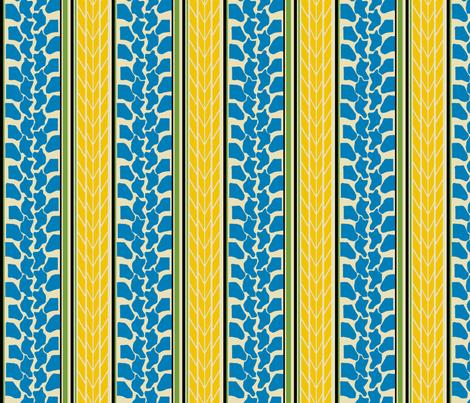 bike tread stripe blue by Diane Gilbert fabric by diane_gilbert on Spoonflower - custom fabric