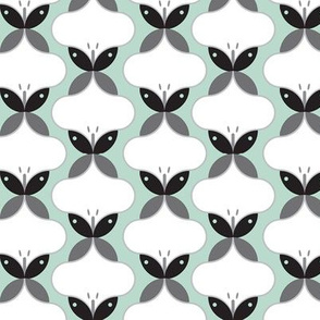 Butterflies in mint