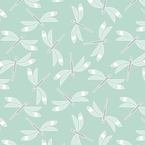 Dragonflies in mint
