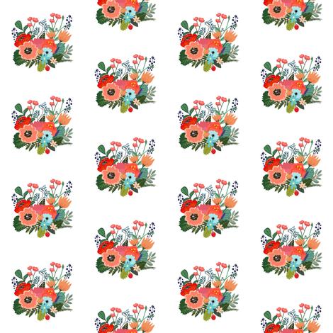 Happy Bright Florals Mini Print fabric by shopcabin on Spoonflower - custom fabric