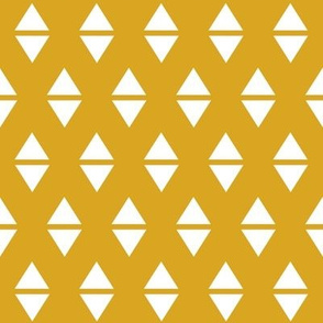 yellow triangles mustard golden yellow
