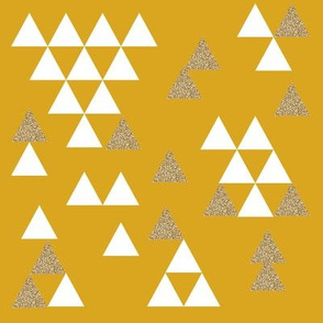 triangles gold white yellow mustard