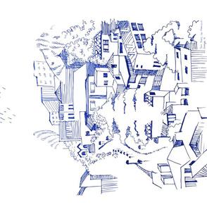 Urban sketch - Twin Peaks San francisco