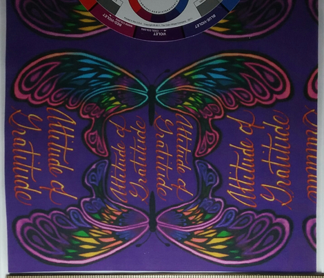 Purple Butterfly Attitude of Gratitude