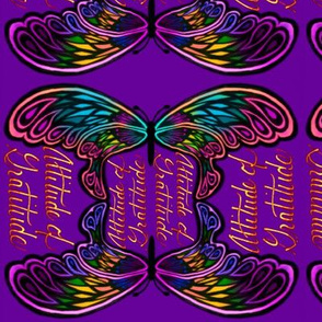 Purple Butterfly Attitude of Gratitude
