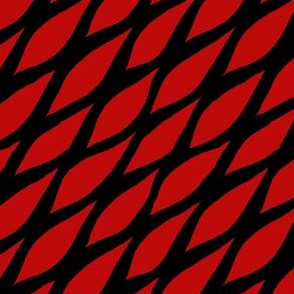 Honeycomb Black Red