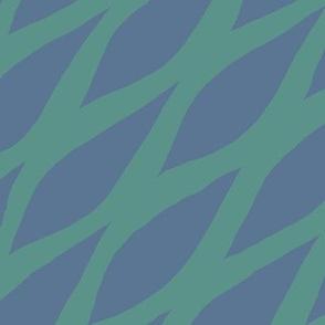 Honeycomb Green Blue