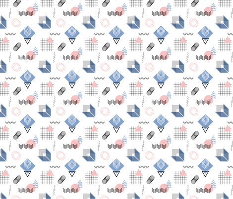 Abstract geometric fabric by radiocat on Spoonflower - custom fabric