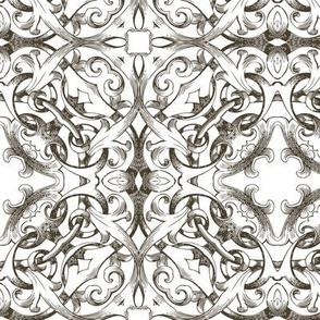 Vintage Monochrome Gothic Lace