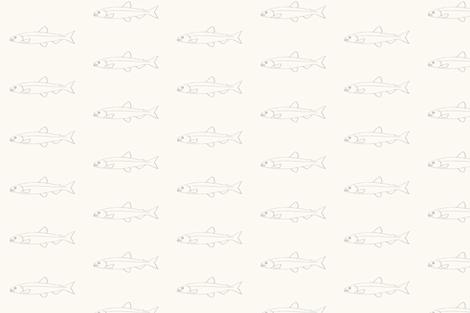 Fish shoals cream fabric by delfine on Spoonflower - custom fabric