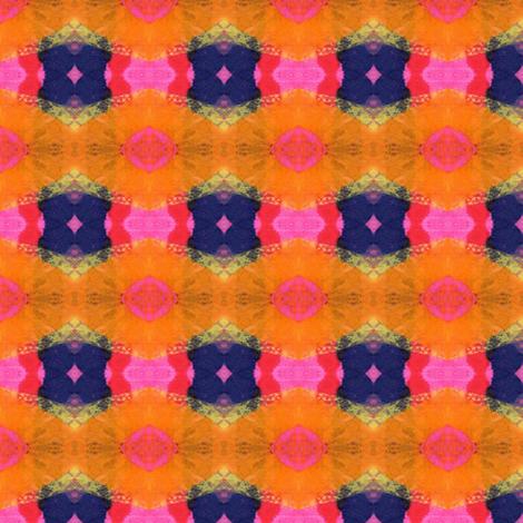 Bleeding Tissue Paper Star Bursts  fabric by anniedeb on Spoonflower - custom fabric