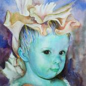 Iris Princess  4 - blue/beige colorway