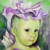 Iris Princess 2 - green/lavender colorway