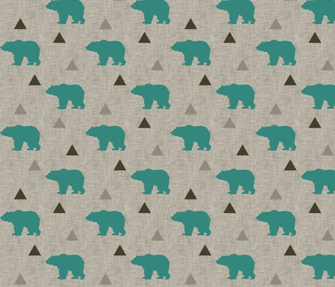 Bears_and_triangles_teal_linen_shop_preview
