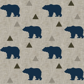 Bears_and_Triangles_Navy_Linen
