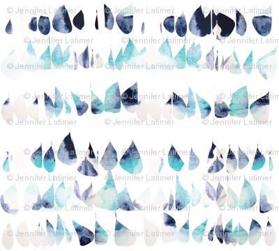 Droplets drops painted blues creams