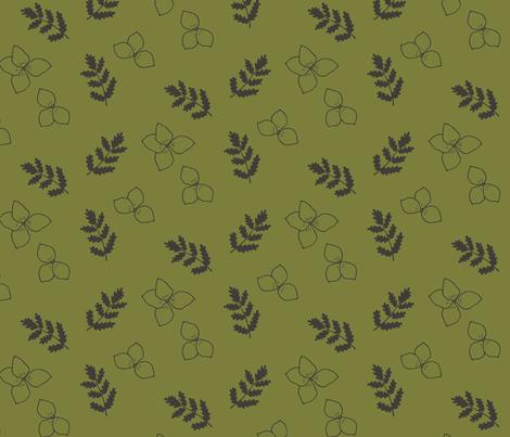 Spring Wildflower in Gold fabric by jacquelinehurd on Spoonflower - custom fabric