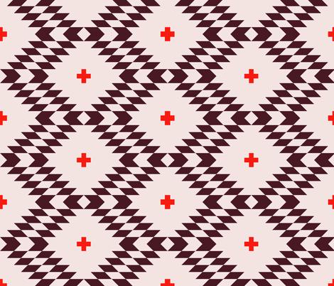 kilim_wine fabric by holli_zollinger on Spoonflower - custom fabric