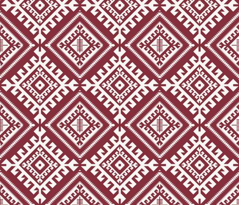 shakami_maroon fabric by holli_zollinger on Spoonflower - custom fabric