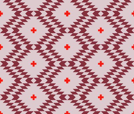 kilim_lavender fabric by holli_zollinger on Spoonflower - custom fabric