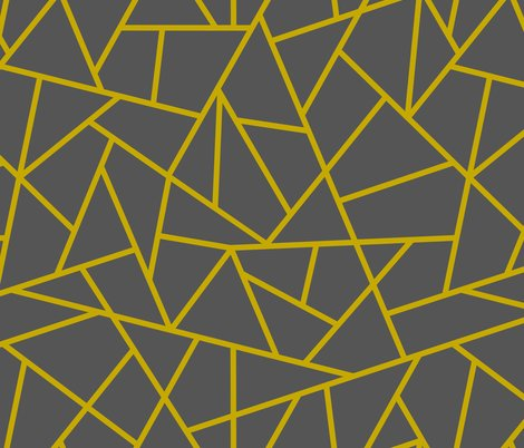 Abstract Geometric Gold On Charcoal Large Wallpaper