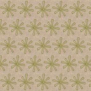 spring green star on linen