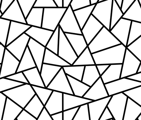 Abstract Geometric Black on White Large fabric by sierra_gallagher on Spoonflower - custom fabric