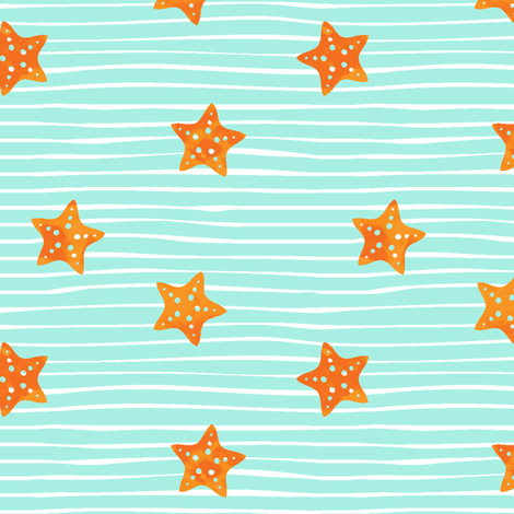 Starfish fabric by littlearrowdesign on Spoonflower - custom fabric