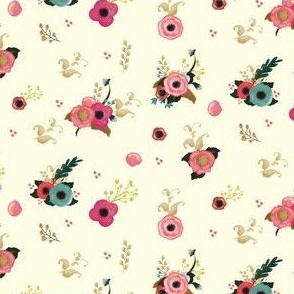 Sweet Florals Ivory