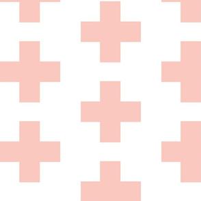 Pink Swiss Plus Signs -