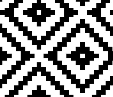 Jumbo Aztec fabric by littlearrowdesign on Spoonflower - custom fabric