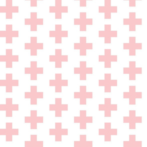 Light Pink Swiss Plus Signs - 2x2