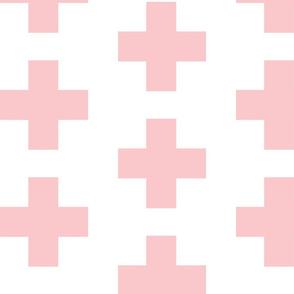 Light Pink Swiss Plus Signs - Large