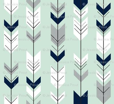 Fletching arrows // Northern Lights - Mint