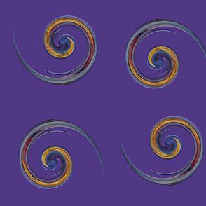 Purple and Yellow Swirls large