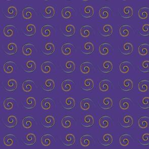 Purple Yellow Swirls small