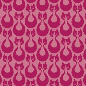 Indikat Designs - Cat Pattern Magenta