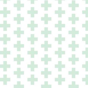 Mint Swiss Plus Signs  2x2