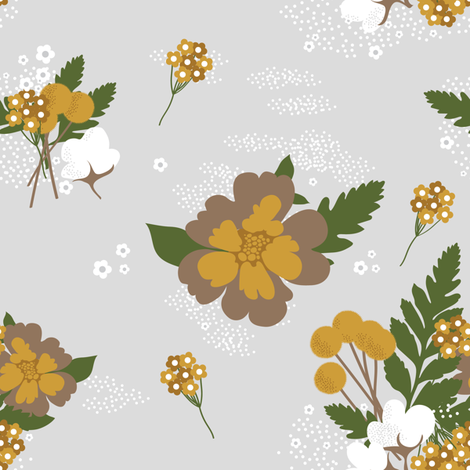 Lisa's Garden fabric by bashfulbirdie on Spoonflower - custom fabric