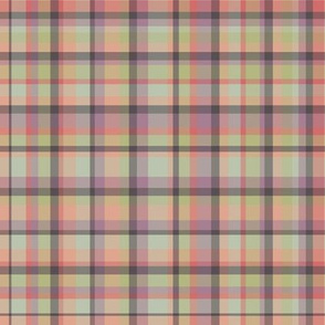 Spring Wildflower Plaid in Pink
