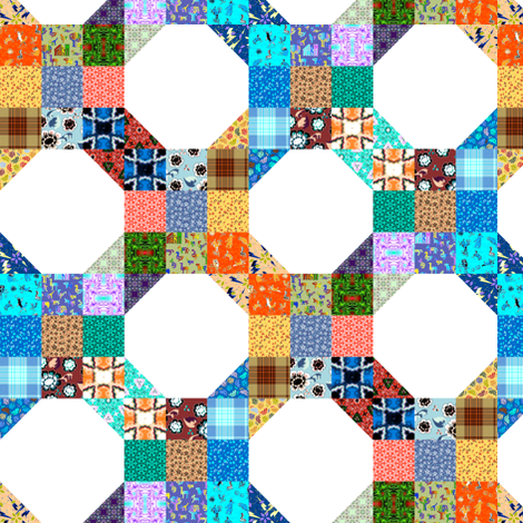 Snowball 9 Patch 3 fabric by eclectic_house on Spoonflower - custom fabric