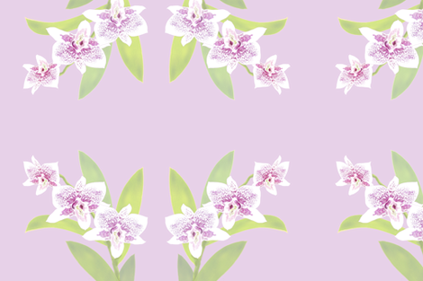Orchid Trio - Lavender Pink 150 fabric by kadyson on Spoonflower - custom fabric