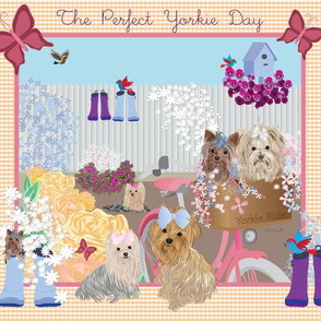 Yorkie - The Perfect Yorkie Day - Organic Cotton Sateen