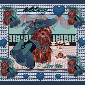 Yorkie - Victorian Called to say Love You!