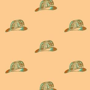 Chic Hats on Peach Blush