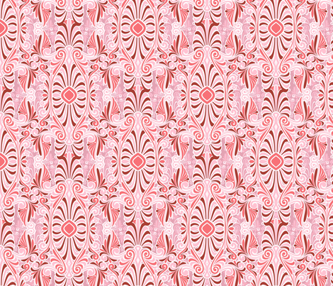 psychedelic rose pink fabric by hannafate on Spoonflower - custom fabric