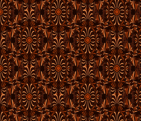 psychedelic rust fabric by hannafate on Spoonflower - custom fabric