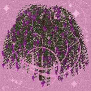 Wisteria with flourishes